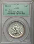 Commemorative Silver: , 1937-S 50C Texas MS66 NGC. NGC Census: (444/97). PCGS Population(438/81). Mintage: 6,637. Numismedia Wsl. Price for proble...
