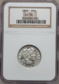 Barber Quarters: , 1892 25C AU58 NGC. NGC Census: (216/1146). PCGS Population(240/1255). Mintage: 8,237,245. Numismedia Wsl. Price for proble...