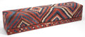 Furniture : Continental, A KILIM UPHOLSTERED BENCH . 20th century . 15-1/2 inches high x 72inches long x 15-1/2 inches wide (39.4 x 182.9 x 39.4 cm)...