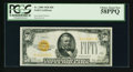 Small Size:Gold Certificates, Fr. 2404 $50 1928 Gold Certificate. PCGS Choice About New 58PPQ.. ...