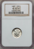 Mercury Dimes: , 1925 10C MS64 Full Bands NGC. NGC Census: (68/63). PCGS Population(154/164). Mintage: 25,610,000. Numismedia Wsl. Price fo...