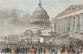 Prints, THE SECOND INAUGURATION OF PRESIDENT GRANT. March 4, 1873,.15 x 21 inches (38.1 x 53.3 cm). Newsprint. El...