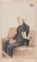 Prints, BRITISH ARTIST (19th Century). 'Scotch Law', Lord Colonsay,September 13, 1873. Vanity Fair chromolithograph. 13-1/2 x 8...