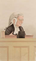 "Prints, BRITISH ARTIST (19th Century). ""Guileless"", Lord Justice WilliamCotton, May 19, 1888. Vanity Fair chromolithograph. 17 ..."