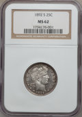 Barber Quarters: , 1892-S 25C MS62 NGC. NGC Census: (15/40). PCGS Population (16/59).Mintage: 964,079. Numismedia Wsl. Price for problem free...