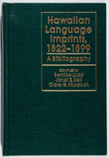 Books:Reference & Bibliography, Bernice Judd, et al. [editors]. Hawaiian Language Imprints,1822-1899. Univ. Press of Hawaii, 1978. First editio...
