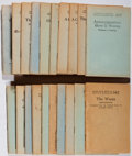 Books:Fiction, Group of 131 Little Blue Books. Haldeman-Julius, ca. 1930.Toning and minor rubbing to most. Generally very good....