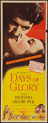 "Days of Glory (RKO, 1944). Insert (14"" X 36""). War"