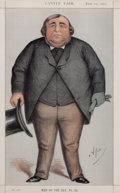 "Prints, BRITISH ARTIST (19th Century). ""Baronet or Butcher"", Sir RogerDoughty Tichborne, Bart, June 10, 1871. Vanity Fair chrom..."