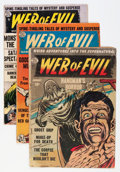 Golden Age (1938-1955):Horror, Web of Evil Group (Quality, 1953-54) Condition: Average GD....(Total: 8 Comic Books)