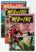 Golden Age (1938-1955):Horror, Web of Evil Group (Quality, 1954) Condition: Average GD except asnoted.... (Total: 7 Comic Books)
