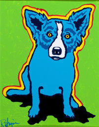 GEORGE RODRIGUE (American, b. 1944) Shadow in My Mind Oil on canvas board 14 x 11 inches (35.6 x