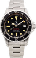 Timepieces:Wristwatch, Rolex Rare Ref. 1655 Double Red Mark IV Sea-Dweller, Submariner2000 ft/610m, circa 1977. ...