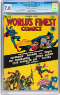 Golden Age (1938-1955):Superhero, World's Finest Comics #10 (DC, 1943) CGC FN/VF 7.0 Cream to off-white pages....
