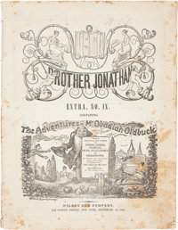 Adventures of Mr. Obadiah Oldbuck First Printing - Brother Jonathan Extra IX Bookstand Edition (Wilson Publishing, 1842)...