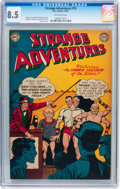 Golden Age (1938-1955):Science Fiction, Strange Adventures #15 (DC, 1951) CGC VF+ 8.5 Off-white pages....
