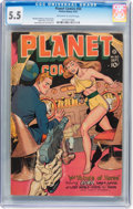 Golden Age (1938-1955):Science Fiction, Planet Comics #50 (Fiction House, 1947) CGC FN- 5.5 Off-white towhite pages....