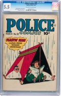 Golden Age (1938-1955):Superhero, Police Comics #52 (Quality, 1946) CGC FN- 5.5 Off-white to whitepages....