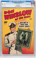 Golden Age (1938-1955):War, Don Winslow of the Navy #17 Crowley Copy/File Copy (FawcettPublications, 1944) CGC NM- 9.2 Off-white pages....