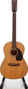 Musical Instruments:Acoustic Guitars, 1970's Yamaha FG-75 Acoustic Guitar, Serial # I049623....