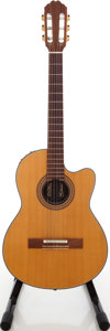 Musical Instruments:Electric Guitars, 1980s Gibson Chet Atkins CEC Natural Electric Acoustic Guitar,Serial # B067. ...