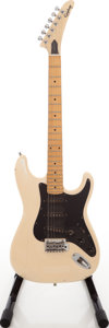 Musical Instruments:Electric Guitars, 1980s Epiphone Strat Copy White Solid Body Electric Guitar. ...