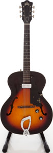 Musical Instruments:Electric Guitars, 1964 Guild X-50 Sunburst Archtop Electric Guitar, Serial #38020....