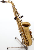 Musical Instruments:Horns & Wind Instruments, 1980s Silvertone Brass Alto Saxophone, Serial # 47533....