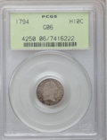 Early Half Dimes, 1794 H10C Good 6 PCGS. V-4, LM-4, R.4....