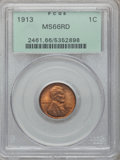 Lincoln Cents, 1913 1C MS66 Red PCGS....
