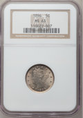 Liberty Nickels: , 1896 5C MS63 NGC. NGC Census: (64/147). PCGS Population (86/178).Mintage: 8,842,920. Numismedia Wsl. Price for problem fre...