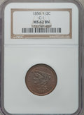 Half Cents: , 1856 1/2 C MS62 Brown NGC. C-1. NGC Census: (59/107). PCGSPopulation (43/71). Mintage: 40,430. Numismedia Wsl. Price for ...