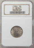 Liberty Nickels: , 1889 5C MS64 NGC. NGC Census: (183/217). PCGS Population (210/98).Mintage: 15,881,361. Numismedia Wsl. Price for problem f...