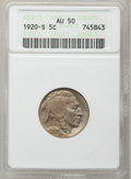 Buffalo Nickels: , 1920-S 5C AU50 ANACS. NGC Census: (5/500). PCGS Population(34/584). Mintage: 9,689,000. Numismedia Wsl. Price for problem ...