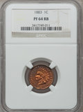 Proof Indian Cents: , 1883 1C PR64 Red and Brown NGC. NGC Census: (158/298). PCGSPopulation (218/141). Mintage: 6,609. Numismedia Wsl. Price for...