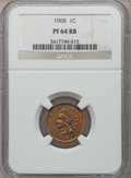 Proof Indian Cents: , 1908 1C PR64 Red and Brown NGC. NGC Census: (50/83). PCGSPopulation (111/65). Mintage: 1,620. Numismedia Wsl. Price forpr...
