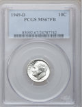 Roosevelt Dimes: , 1949-D 10C MS67 Full Bands PCGS. PCGS Population (74/3). NGCCensus: (46/1). Mintage: 26,034,000. Numismedia Wsl. Price for...