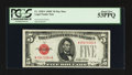 Small Size:Legal Tender Notes, Fr. 1528* $5 1928C Legal Tender Star Note. PCGS About New 53PPQ.. ...