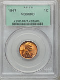 Lincoln Cents: , 1947 1C MS66 Red PCGS. PCGS Population (442/10). NGC Census:(1242/42). Mintage: 190,555,008. Numismedia Wsl. Price for pro...