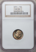 Roosevelt Dimes: , 1950 10C MS68 NGC. NGC Census: (2/0). PCGS Population (1/0).Mintage: 50,181,500. Numismedia Wsl. Price for problem free NG...