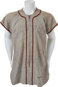 Baseball Collectibles:Uniforms, 1949 Les Moss Game Worn St. Louis Browns Jersey....