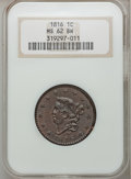Large Cents: , 1816 1C MS62 Brown NGC. NGC Census: (29/90). PCGS Population(35/73). Mintage: 2,820,982. Numismedia Wsl. Price for problem...