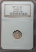 Seated Half Dimes: , 1857-O H10C MS62 NGC. NGC Census: (21/103). PCGS Population(12/84). Mintage: 1,380,000. Numismedia Wsl. Price for problem ...