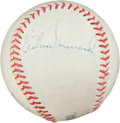 Autographs:Baseballs, 1950's Elston Howard Signed Baseball....