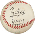 Autographs:Baseballs, 1956 Ty Cobb with Later Stan Musial Signed Baseball....