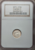 Seated Half Dimes: , 1873 H10C MS63 NGC. NGC Census: (18/50). PCGS Population (27/42).Mintage: 712,000. Numismedia Wsl. Price for problem free ...