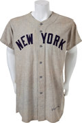 Baseball Collectibles:Uniforms, 1951 Jerry Coleman Game Worn New York Yankees Jersey....