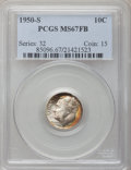 Roosevelt Dimes: , 1950-S 10C MS67 Full Bands PCGS. PCGS Population (23/2). NGCCensus: (32/4). Mintage: 20,440,000. Numismedia Wsl. Price for...