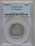 Seated Quarters: , 1840-O 25C No Drapery VF25 PCGS. PCGS Population (16/95). NGCCensus: (3/106). Mintage: 382,200. Numismedia Wsl. Price for ...