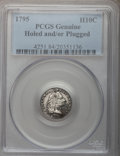 Early Half Dimes, 1795 H10C -- Holed, Plugged -- PCGS Genuine. Mintage: 78,600.(#4251)...
